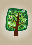 Square vector tree 10 Royalty Free Stock Photo