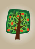 Square vector tree 06 Royalty Free Stock Photo