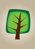Square vector tree 01 Royalty Free Stock Images
