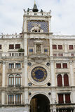 Square in Venice. Italy, Venice. The clock on the Square of St. Mark Stock Images
