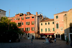 Square in Venice, Italy Royalty Free Stock Photo