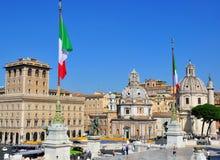 Square of Venice, Rome, Italy Stock Photos