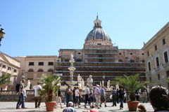 Square Vergonia in Palermo, Italy. Royalty Free Stock Photography