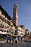 Square of Verona. Verona - a very important square called Piazza delle Erbe Stock Photo