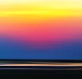Square vibrant burning ocean horizon sunset Stock Images