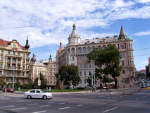 Square in Vienna with buildings Stock Photo