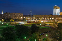 Square view at night. Moscow royalty free stock images