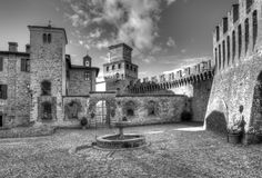 The square of Vigoleno Stock Photography