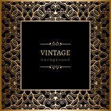 Square vintage gold frame Royalty Free Stock Photo
