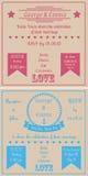Square vintage wedding cards Royalty Free Stock Image
