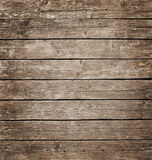 Square vintage wooden panel with horizontal planks and gaps Stock Photo