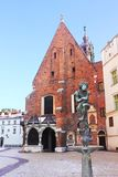 Square of the Virgin Mary in Krakow stock photo