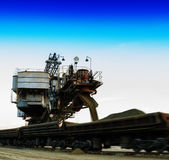 Square vivid loading sand machine Stock Photo