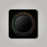 Square volume knob Stock Photography