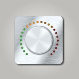 Square volume knob Royalty Free Stock Photography