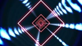 Square vortex design on black stock video footage