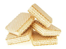 Square wafer pile Royalty Free Stock Photos