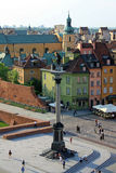 Square in Warsaw. Zygmunt column on the square in Warsaw Royalty Free Stock Image