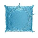 Square water splash Stock Images