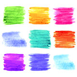 Square watercolor design elements. Colorful background set. Vect Royalty Free Stock Image