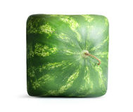 Square Watermelon on white background. File contains a path to isolation. Royalty Free Stock Images
