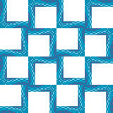 Square Wavy Frames. Seamless pattern of little square frames with wavy lines Royalty Free Stock Images
