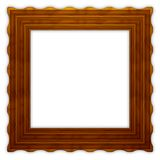Square wavy wooden frame 2 Royalty Free Stock Photography