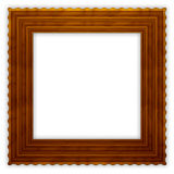Square Wavy Wooden Frame Royalty Free Stock Images