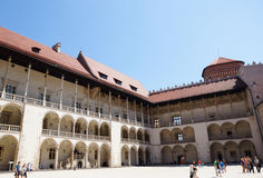 Square of the Wawel castle Stock Photo