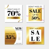 Square web banner sale vector illustration