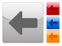 Square web buttons arrow left Stock Photography