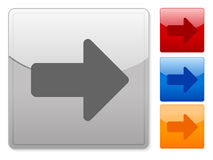 Square web buttons arrow right Royalty Free Stock Image