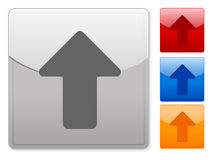 Square web buttons arrow up Stock Image