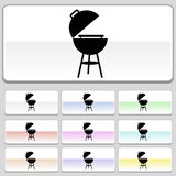 Square web buttons - BBQ. Set of 10 web buttons - bbq grill Royalty Free Stock Photo