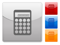 Square web buttons calculator Royalty Free Stock Photos