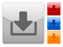 Square web buttons download Stock Photo