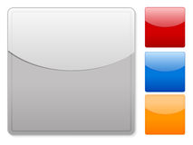 Square web buttons empty Royalty Free Stock Photo