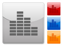Square web buttons equalizer Royalty Free Stock Photos