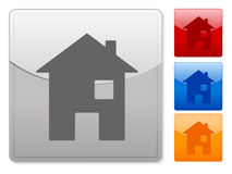 Square web buttons house Stock Images