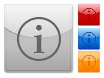 Square web buttons info Royalty Free Stock Photo