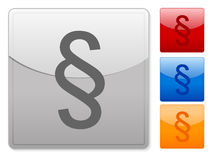 Square web buttons paragraph Royalty Free Stock Photo