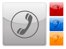 Square web buttons phone Royalty Free Stock Images