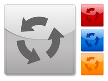 Square web buttons recycle 2 Royalty Free Stock Photo
