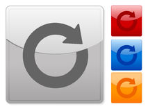 Square web buttons refresh Royalty Free Stock Image