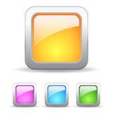Square web buttons Stock Images