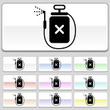 Square web buttons - Spray. Set of 10 web buttons - poison spray device Stock Photo