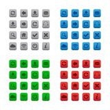 Square web buttons royalty free illustration