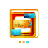 Square web design boxes - vector illustration Royalty Free Stock Photography