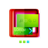 Square web design boxes - vector illustration Stock Photography