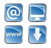 Square web icons Stock Image